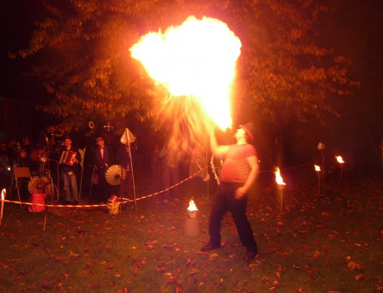 Fire performance by Random Mike at Inter-Action MK's event.