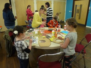 children's workshop at Moorlands Centre.