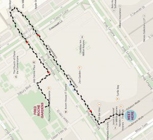 lantern parade route map