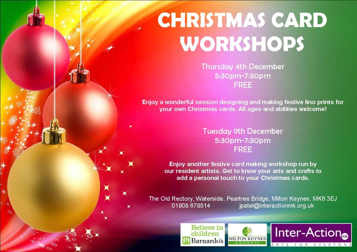 Flyer for Christmas Card Workshops