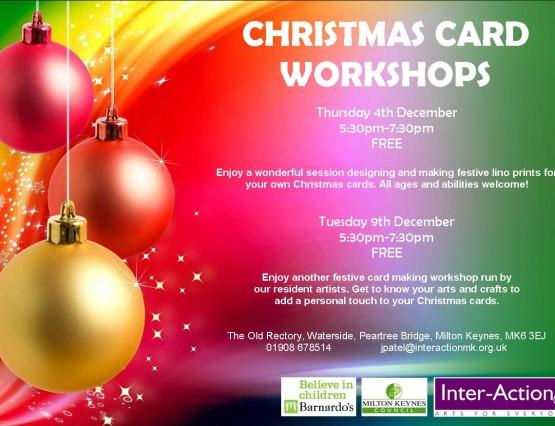 Flyer for Christmas Card Workshops