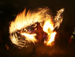 Fire performance at Garden of Light